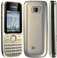 Nokia C2-01 Gold Original Unlocked Great Condition Camera Cell Mobile Bar Phone