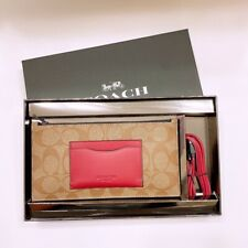 COACH Boxed Zipper Phone Wallet with Leather iPhone/iPad USB Cable F79849 NWT