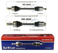 For Acura TSX Honda Accord FWD 2.4L Pair of Front CV Axle Shafts SurTrack Set