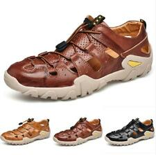 Men's Hiking Sandals Shoes Slip on Hollow out Breathable Flats Non-slip Soft New