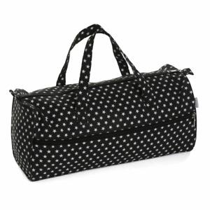 Knitting Bag ~ Fabric Handles ~ Black Star ~ Hobbygift ~ MR4698576