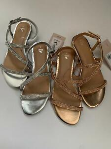 Tu Ladies Crystal Sandals Size UK 3 - 8