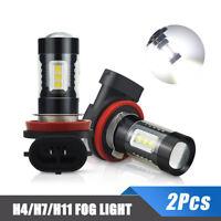 2X H3 H11 H4 H7 LED Fog lights 160W Headlight Bulbs Kit 6000K HID Canbus Decoder
