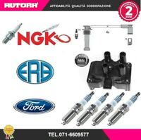 KIT85 Kit cavi+4 candele+bobina accensione Ford Fiesta V 00> (ERA+NGK+FORD)