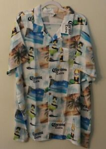 Corona Hawaiian Shirt Men's XXXL New with Tags