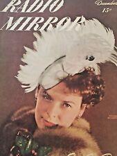 Vintage Collectible Magazine Radio Mirror December 1946 Mercedes McCambridge