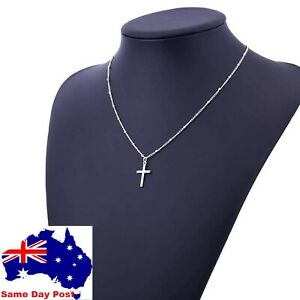 NEW  Cross Pendant Charm Gold or Silver Necklace Chain Women Fashion Jewellery
