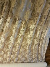 "5m Ivory cream strech lace FABRIC 60"" WIDE"