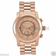 Michael Kors Original MK8096 Men's Runway Oversized Rose Gold Watch 45mm
