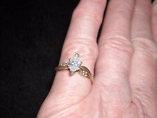 376 14k yellow gold diamond ring 1.5 dwt .60 TCW .52 carat marquise G SI1 size 5