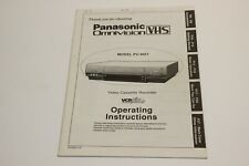 New listing Panasonic Pv-4661 Vcr Owners Instruction Manual