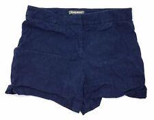 Tommy Bahama Womens Flat Front Casual Shorts 10 Navy Blue Linen Stretch EUC E2