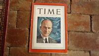 VINTAGE TIME MAGAZINE, AUG 11 1941 BENJAMIN SUMNER WELLES