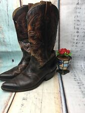 Men's Vintage TEXAS Made in USA SIZE 9 EE #M40 Brown Cowboy Western Boots