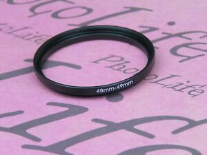 48mm to 49mm Stepping Step Up Filter Ring Adapter 48mm-49mm