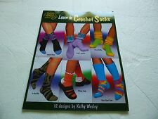 Learn to Crochet Socks booklet -American School of Needlework -12 designs