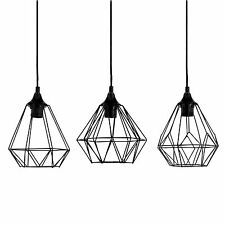 Hängeleuchte Metallgeflecht Schwarz / Geometrisch, Leuchte, Nordisch