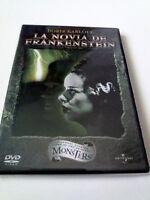 "DVD ""LA NOVIA DE FRANKENSTEIN"" COMO NUEVO JAMES WHALE BORIS KARLOFF COLIN CLIVE"