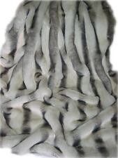 "SALE! SUPER SOFT SILVER CHINCHILLA FAUX FUR THROW/BLANKET,60""X72"",MADE IN CANADA"