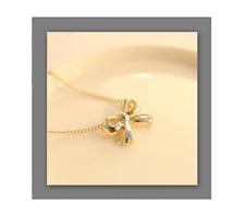 collier chaîne pendentif doré breloque NOEUD infini amour ! idée cadeau ! NEUF