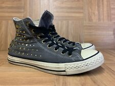 RARE🔥 Converse All Star Chuck Taylor Hi Studded Studs Gold Sz 10 Women's Shoes