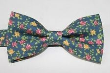 Mir Bow Tie New Men's Tuxedo Bowtie Green Floral Wedding Party  Necktie bt146