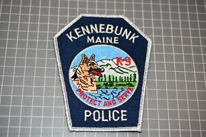 Kennebunk Maine Police K-9 Patch (S03-1)