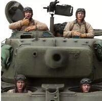 1/16 Resin Figure Model Kit U.S. Soldiers Crew (4 Figures no Tank) WW2 Unpainted