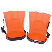 Kids Adjustable Flippers Fins Snorkel Scuba Swimming Diving Orange Small
