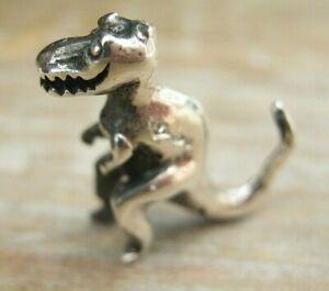 A Novelty Sterling Silver Miniature T-Rex - Tyrannosaurus Dinosaur Statue Figure