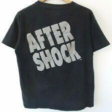 Vtg 90s After Shock Liquor Surf Skate Grunge Distressed Faded Black T-Shirt L Xl