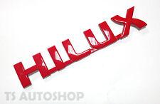 "RED "" HILUX "" LOGO EMBLEM DECAL FOR TOYOTA HILUX VIGO CHAMP SR5 2012-2014"