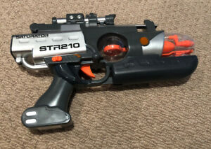 Toy Gun with Flashing Lights and Sound Batteries included 'Saturator STR210 Spin