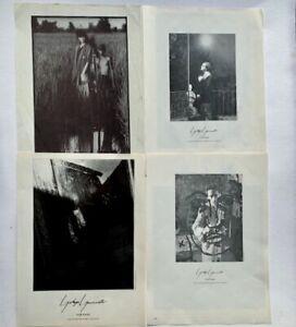 Vintage Yohji Yamamoto 80s vintage Keichi Tahara fashion adverts / tear sheets