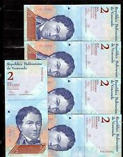VENEZUELA, 5 NOTES OF 2 BOLIVARES , 2013, P-88, CONSEC. S/N, UNC FROM BUNDLE