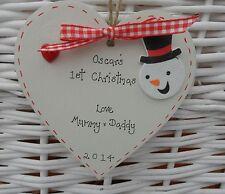 BABY primo / 1st personalizzata albero di Natale decorazione (10cm)