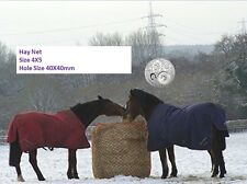 Pre-Sale LARGE Slow-Feeder-Hay-Net-Bag-5X4-Round-Bale-Steady Horse Hay Net 40X40