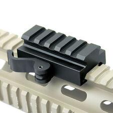 "Quick Release 5"" Low Profile Riser QR Block Mount for Picatinny / Weaver Rail"