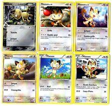 CARTE POKEMON lot de 6 cartes MIAOUSS FRANCAISES Differentes Lot N° MIAO6 002