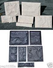 6 Giessformen für Wandverkleidung -Schieferstruktur 320