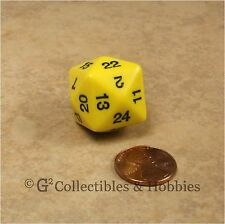 NEW Yellow D24 Polyhedral RPG D&D Dice 24 Sided Koplow