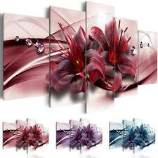 BLUMEN LILIEN DIAMANT Wandbilder xxl Bilder Vlies Leinwand  b-C-0155-b-n
