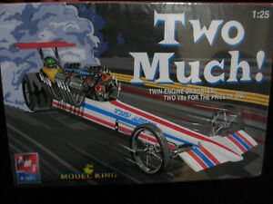 AMT ERTL TWO MUCH TWIN ENGINE DRAGSTER MODEL FACTORY SEALED NO RESERVE