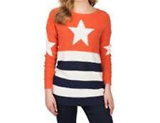 Hilfiger Denim women's Winona Star e Pullover Girocollo a Righe in arancione XS
