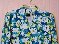 RAFAELLA Size  Large  3/4 Sleeve Multi-Color Floral Print Cotton Knit Top/Shirt