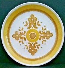 James-Town China Dinner Dish Plates Yellow 4 Petal Flower Pattern Vintage 1970s