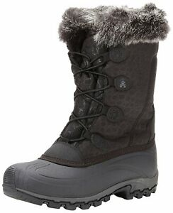Kamik Womens momentum Closed Toe Knee High Cold Weather Boots, Black, Size 10.0