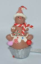 BATH & BODY WORKS GINGERBREAD MAN CUPCAKE MAGNET LARGE 3 WICK CANDLE ORNAMENT