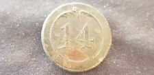 Very rare French Napoleonic 14th line regiment button please read descrip. L95s