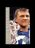 Lou Creekmur SGC Graded Gem Mint 10 1998 HOF Signature Series Lions Autograph